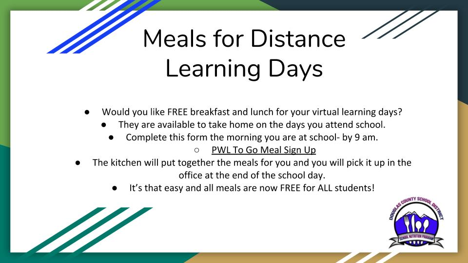 Meals for Distance Learning